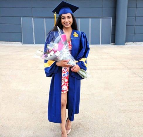 Sonia at graduation